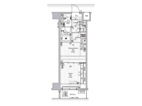 JR Keiyo line & Metro Yurakucho line Shiomi station, 1 Bedroom Bedrooms, ,1 BathroomBathrooms,Apartment,Tokyo,Shiomi station,1137