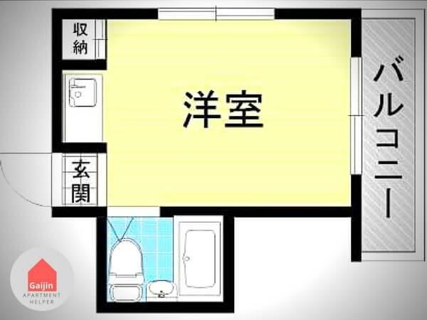 Sugimotocho station, 1 Bedroom Bedrooms, ,1 BathroomBathrooms,Apartment,Osaka,1333
