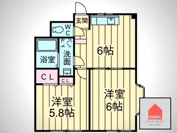 Shinozaki Sta., Toei Shinjuku Line, 2 Bedrooms Bedrooms, ,1 BathroomBathrooms,Apartment,For sale,1496