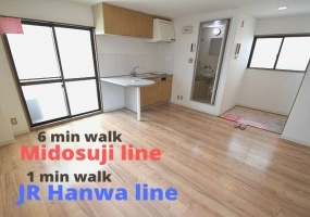JR Hanwa line & Midosuji line Tsurugaoka station, 1 Bedroom Bedrooms, ,1 BathroomBathrooms,Apartment,For Rent,Tsurugaoka station,1063