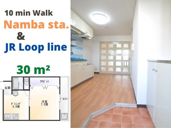 1DK, Naniwa-ku, 1 min walk- Life super market.